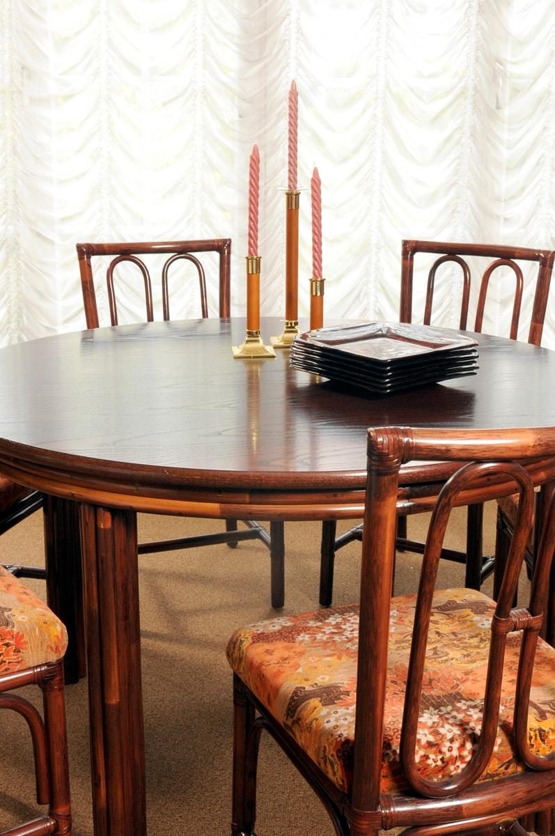 rattan tisch rund ausziehbar inkl st hle eberhard interieur. Black Bedroom Furniture Sets. Home Design Ideas