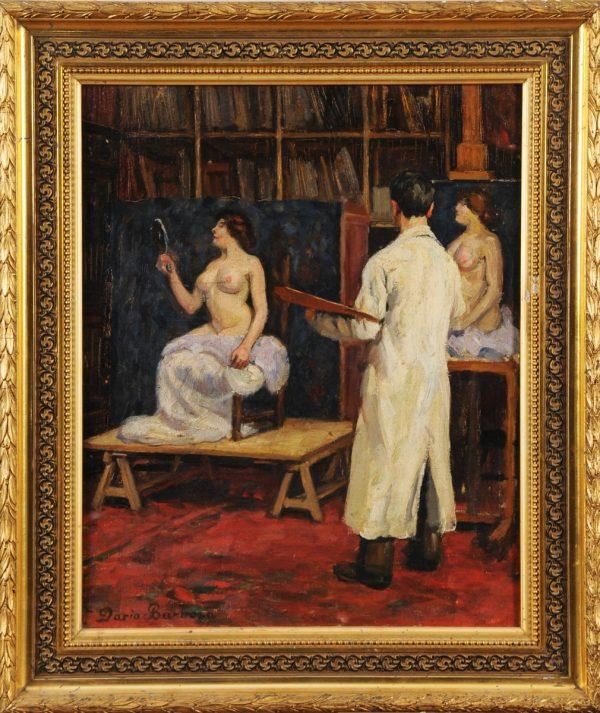 Modell nackt mit Maler - Selbstbildnis