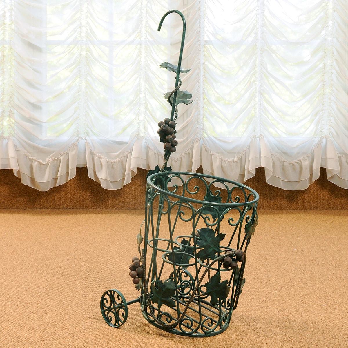 weinkarre metall gr n patiniert eberhard interieur. Black Bedroom Furniture Sets. Home Design Ideas